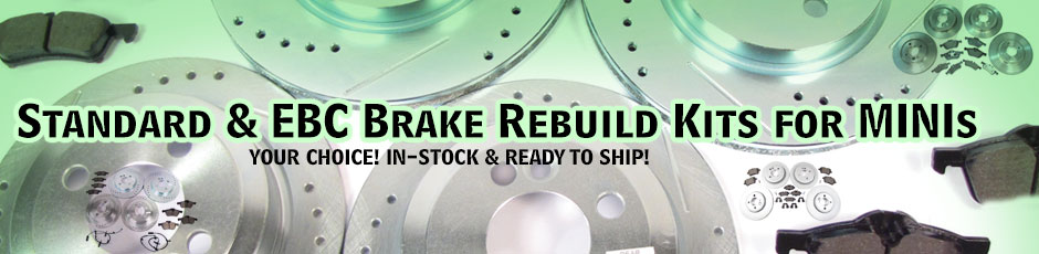 Standard and EBC Brake Rebuild Kits For MINIs
