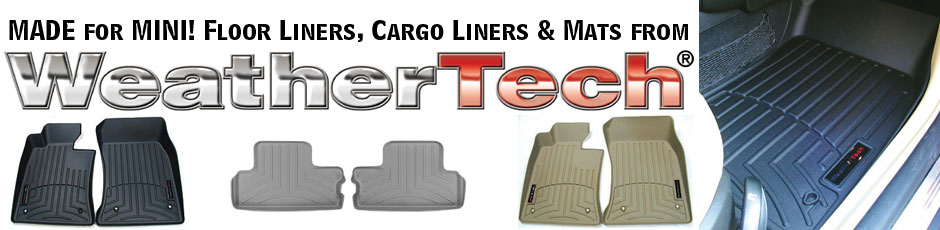 Made For MINI - Floor Liners, Cargo Liners & Mats from Weathertech!