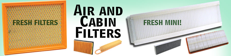 Air and Cabin/Pollen Filters - FRESHEN UP