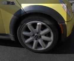 molding installed on MINI Cooper