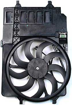 MINI Cooper fan and motor assembly