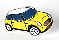 Lapel Pin - Cooper S - Yellow