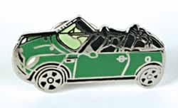 Lapel Pin - Cooper Convertible - Green