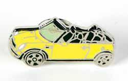 Lapel Pin - Cooper Convertible - Yellow