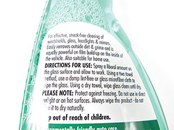SONAX Glass Cleaner - product directions